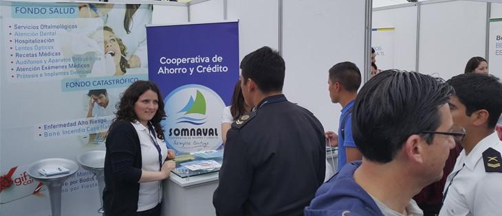 Destacada participacion de Cooperativa Somnaval en la Expo Bienestar Naval 2016